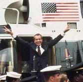 Nixon departs WH